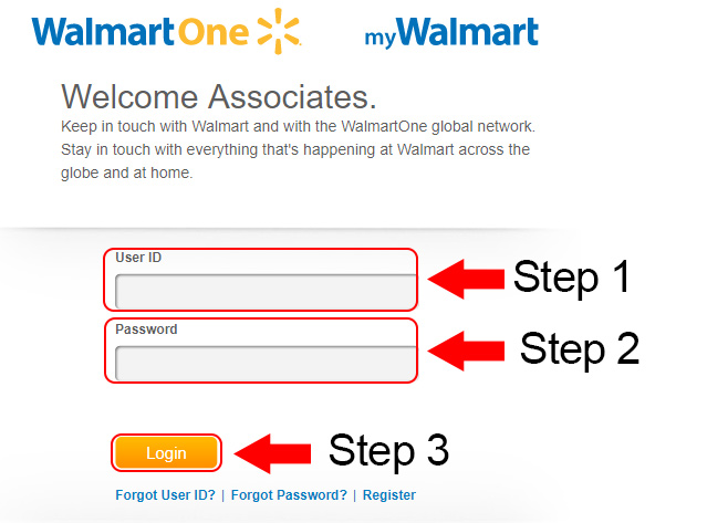 walmart one employees login