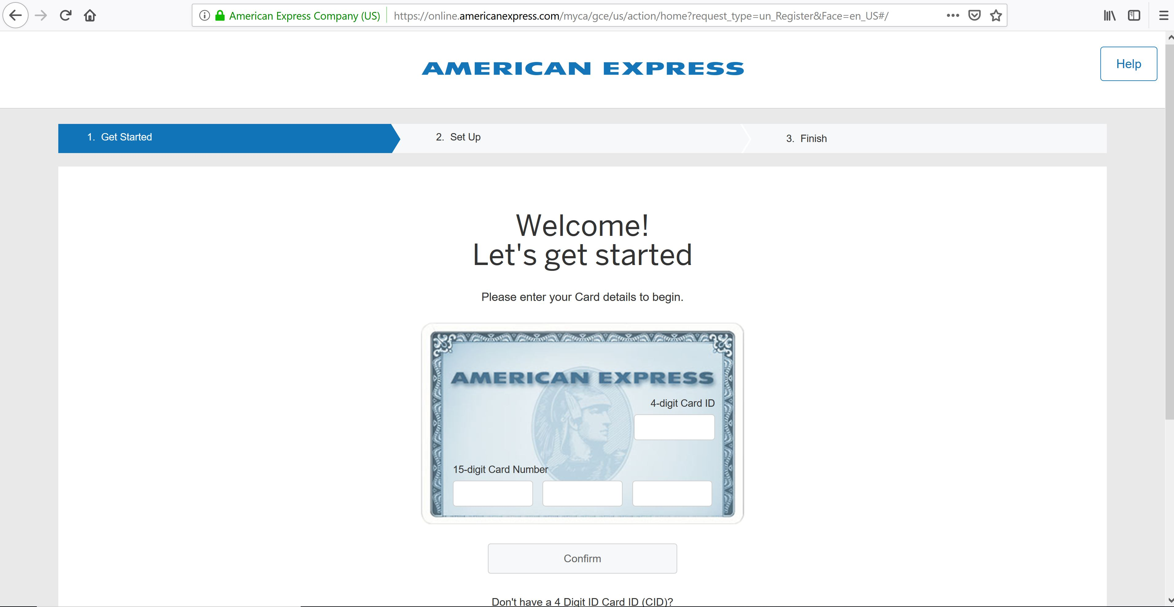 American Express Create Account