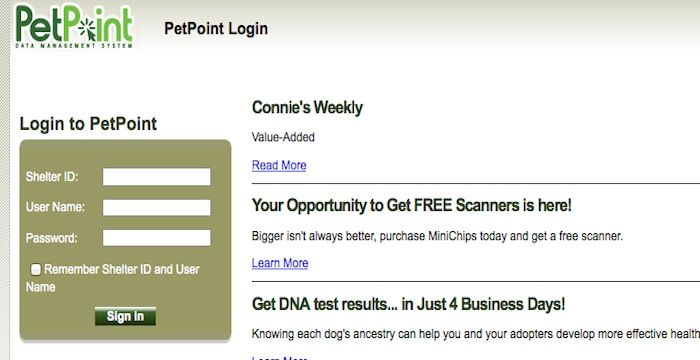 Petpoint  Website