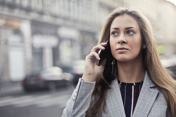 Woman using a cellphone